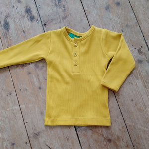 Gold long sleeve tee by Little Green Radicals
