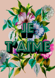 Je T'Aime A4 print by Max Made Me Do It