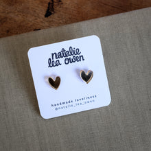 Load image into Gallery viewer, Rose gold heart studs