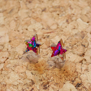 Superstar tiny stud earrings
