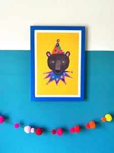 Magical Party Bear print by Hutch Cassidy