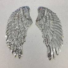 Load image into Gallery viewer, Large iron on sequin wings