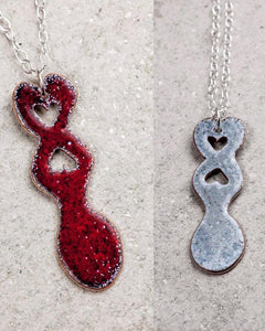 Lovespoon necklaces by Lora Wyn