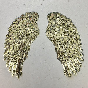 Small iron on sequin wings
