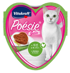 Vitakraft Poesie Hearts Chicken & Cat Grass in Jelly Tray