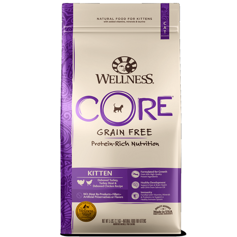 Wellness - CORE® Kitten : Deboned Turkey, Turkey Meal & Deboned Chicken (2Sizes: 2lb & 5lb)