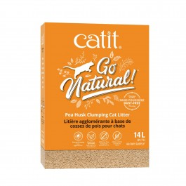 Catit Go Natural Pea Husk Clumping Cat Litter 14L (2x7L)