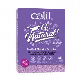 Catit Go Natural Pea Husk Clumping Cat Litter Lavender Scented 14L (2x7L)