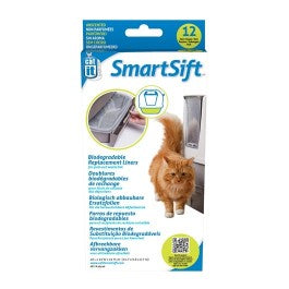 Catit Design SmartSift Biodegradable Replacement Liners - 12-pack For Pull-Out Waste Bin