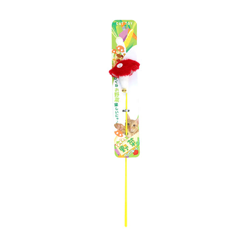 Petz Route -Veggie Cat Stick Toy (Mushroom)