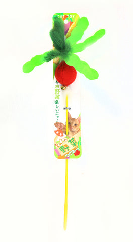 Petz Route -Veggie Cat Stick Toy (Radish)