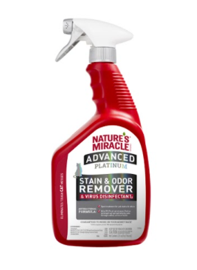 Nature's Miracle Advanced Platinum Stain and Odor Remover & Virus Disinfectant - Cat (32oz)