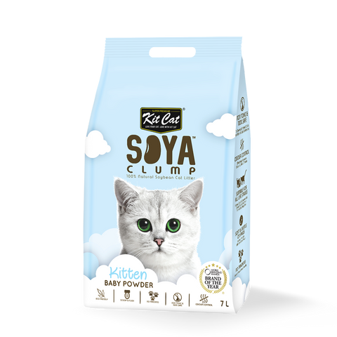 Kit Cat Soya Clump Kitten Baby Powder Cat Litter 7L