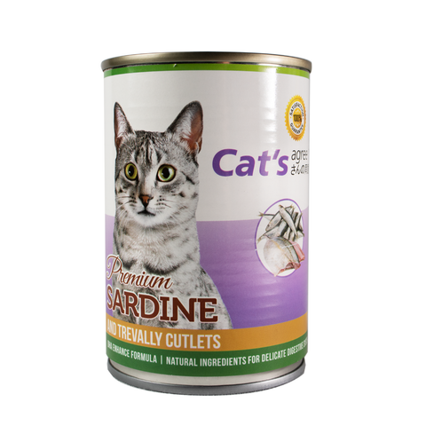 Cat's Agree Premium Sardine and Trevally Cutlets Wet Food 400g