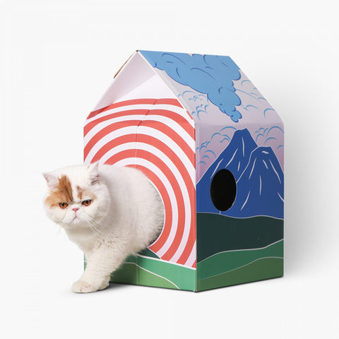 Pidan Cat Hut Scratcher - Mt. Fuji