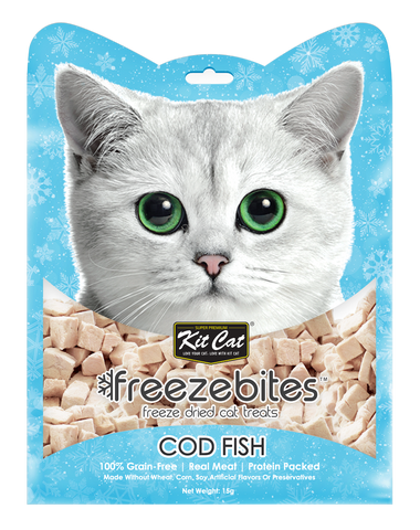 Kit Cat Freeze Bites Cat Treat - Cod Fish