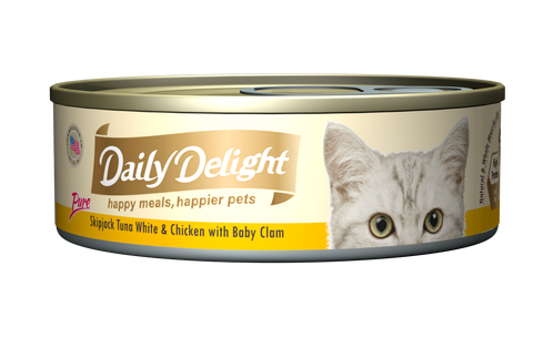 Daily Delight Pure Skipjack Tuna White & Chicken with Baby Clam