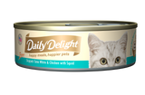 Daily Delight Pure Skipjack Tuna White & Chicken with Squid