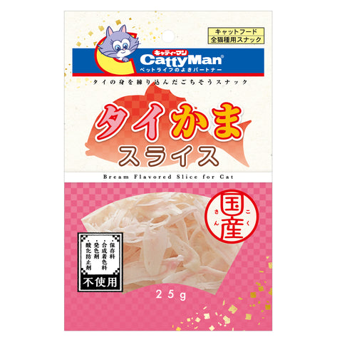 Cattyman Bream Flavored Slice Chewy Cat Treats