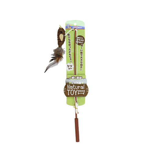 Cattyman Jareneko Natural Toy Bird Cat Stick
