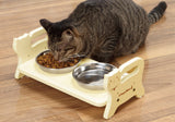 Cattyman Woody Dining Table for Cat