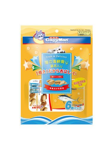 Cattyman Seafood Set Chicken Cat Treats