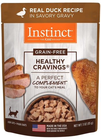 Instinct Grain-Free Healthy Cravings Real Duck Recipe in Savory Gravy Wet Cat Food Topper