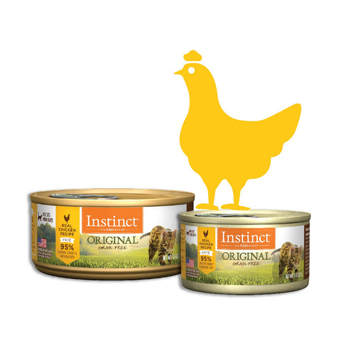 Instinct Original Grain-Free Pate Real Chicken Recipe Canned Cat Food (2 Sizes: 85g/156g)
