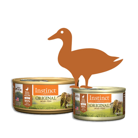 Instinct Original Grain-Free Pate Real Duck Recipe Canned Cat Food (2 Sizes: 85g/156g)