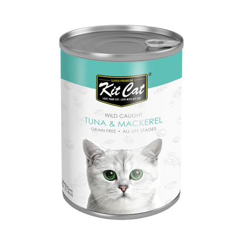 Kit Cat Atlantic Tuna with Mackerel Canned Cat Food 400g