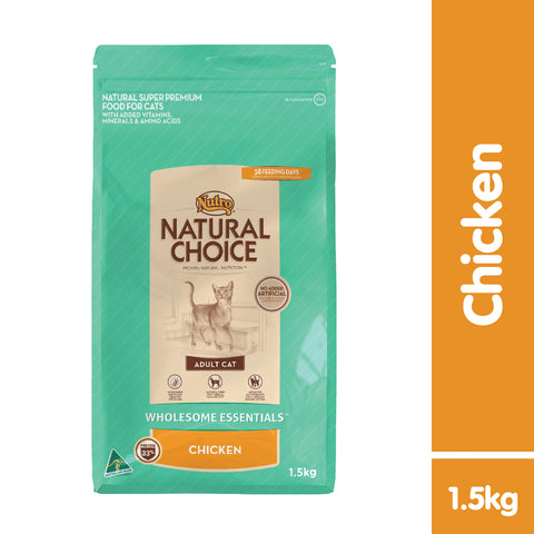 Nutro Natural Choice Adult Cat Chicken Dry Food ( 2 Sizes: 1.5kg / 3kg )