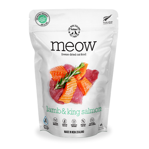 MEOW Freeze Dried Cat Food Lamb & King Salmon