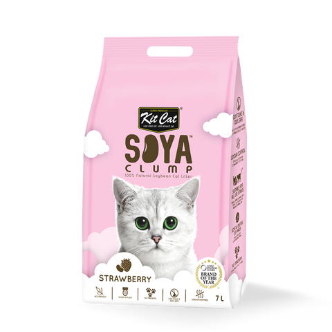 Kit Cat Soya Clump Strawberry Cat Litter 7L
