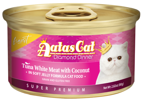 Aatas Cat Finest Diamond Dinner - Tuna White Meat with Coconut in Soft Jelly Formula