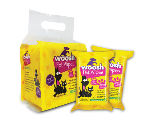 Woosh Pet Wipes Value Pack (3 x 20pcs)