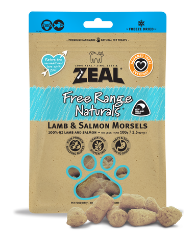 ZEAL Free Range Naturals Lamb & Salmon Morsels Treats