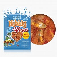 Catit Nibbly Wraps Chicken & Fish Treats for Cats 30g