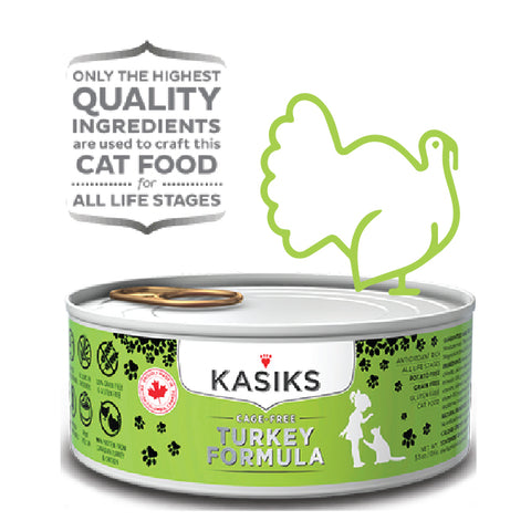 Kasiks Grain, Gluten & Potato Free, Cage Free Turkey Canned