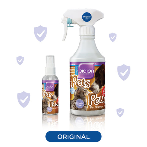 Bio Ion Pets Pounce Sanitizers Original (2 SIZES: 60ml/500ml)