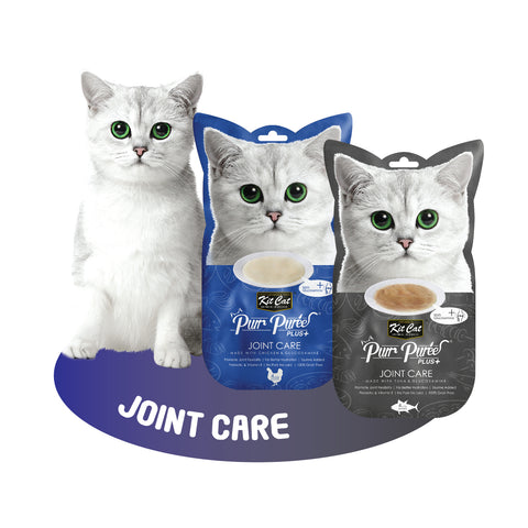 Kit Cat Purr Puree Plus+ - Joint Care (Choice of Chicken/Tuna) 4x15g