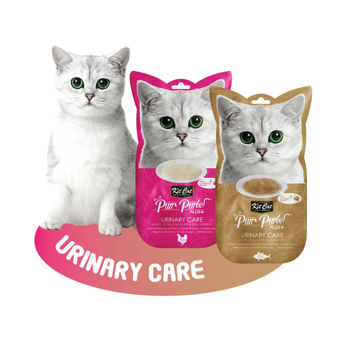 Kit Cat Purr Puree Plus+ - Urinary Care with Cranberry (Choice of Chicken/Tuna) 4x15g