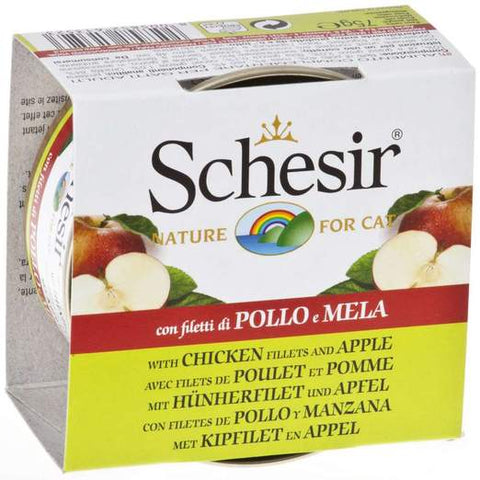 Schesir Chicken and Apple Wet Food