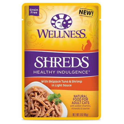 Wellness Complete Healthy Indulgence Shreds Tuna & Shrimp Wet Pouch