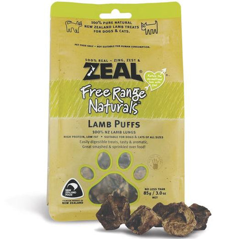 ZEAL Free Range Naturals Lamb Puffs Treats