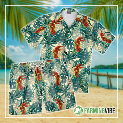 Funny Chickens Tropical 3 Shirt And Short Set