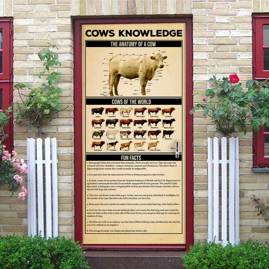 Cows Knowledge Door Cover