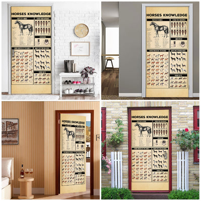 Horses Knowledge Door Cover