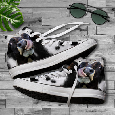Funny Face Dairy Cow Canvas Shoes