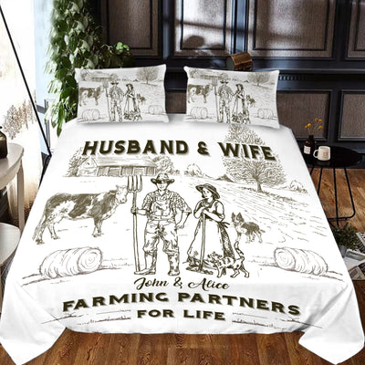 Personalized Farming Partners For Life Bedding set