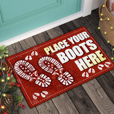 Place Your Boots Here - Dairy Cows Doormat